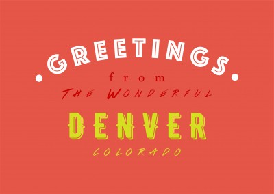 Greetings from the wonderful Denver