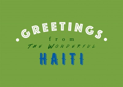 Greetings from the wonderful Haiti