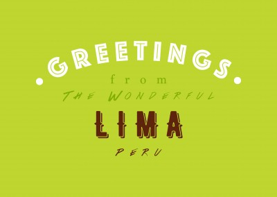 Greetings from the wonderful Lima