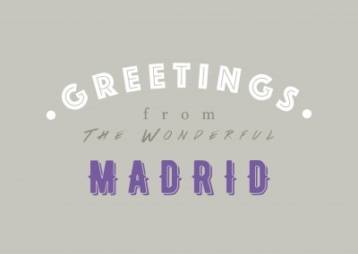 Greetings from the Wonderful Madrid