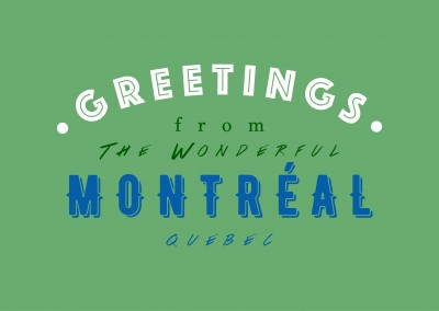 Greetings from the wonderful Montreal