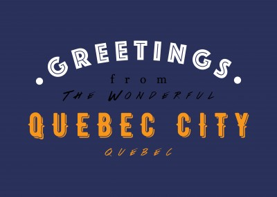 Greetings from the wonderful Quebec City