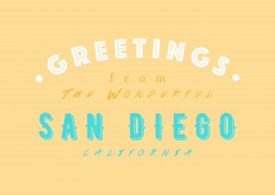 Greetings from the wonderful San Diego