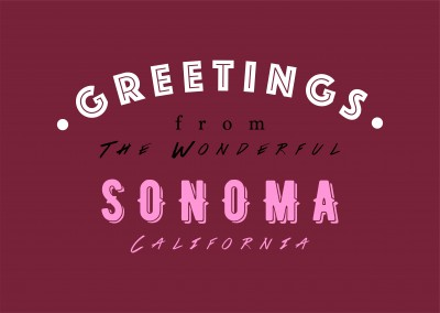 Greetings from the wonderful Sonoma