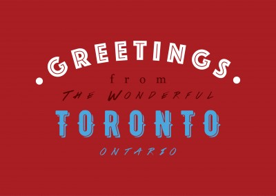 Greetings from the wonderful Toronto