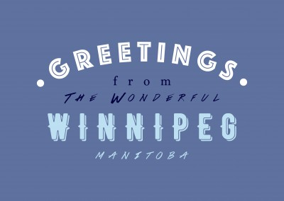 Greetings from the wonderful Winnipeg