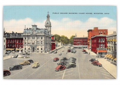 Wooster, Ohio, Public Square showing court house