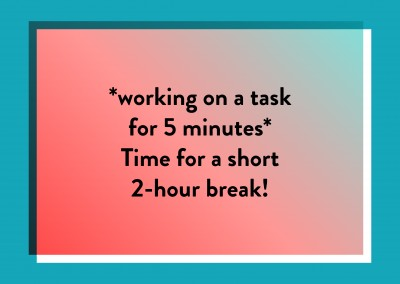Working on a task for 5 minutes
