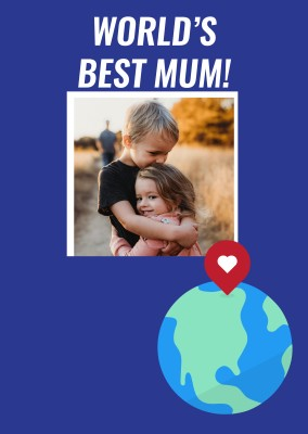 Worlds Best Mum Drop Pin Template