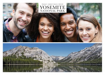 panoramic photo of yosemite national park