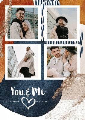 postcard You and me