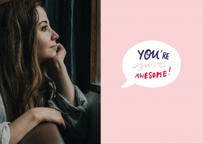 YOU ARE JUST AWESOME handwritten