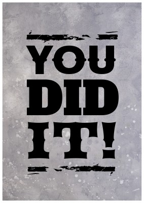 you did it quote card