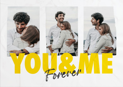 postcard You and me forever