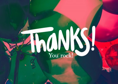 Thanks! You rock!
