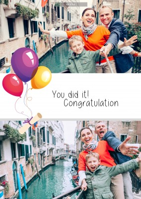 youdidit and congratulation