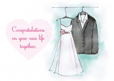 Wedding clothing illustration