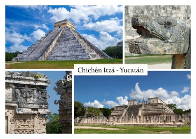 Chichén Itzá photo collage